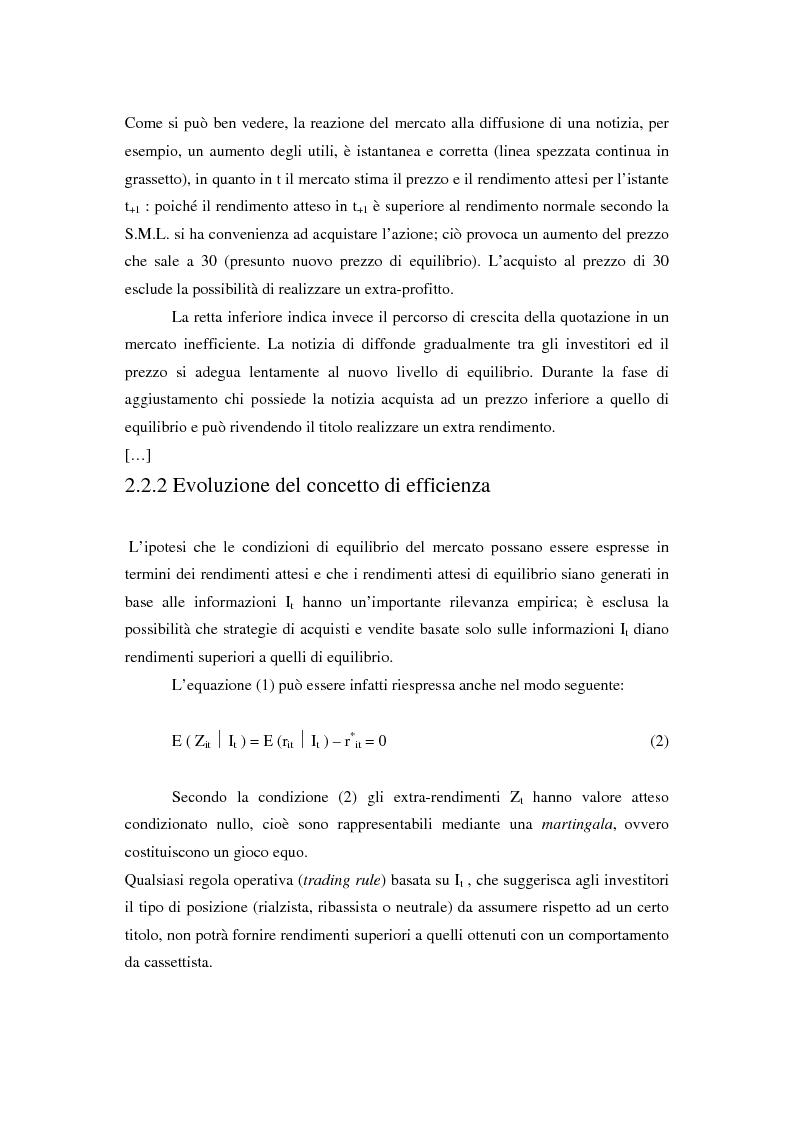 Anteprima della tesi: Il mercato azionario italiano: efficienza e anomalie, Pagina 5