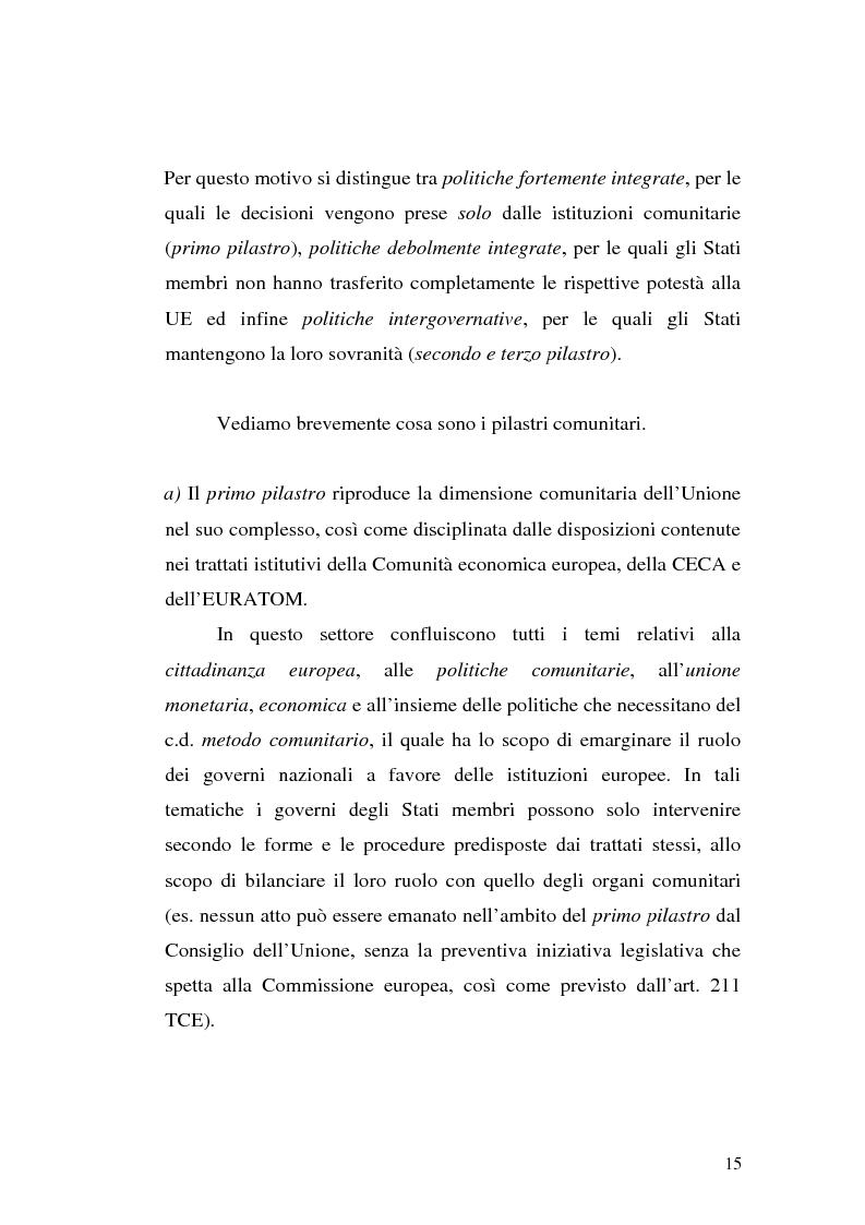 Anteprima della tesi: Diritto comunitario e diritto penale: la domanda di tutela comunitaria e l'offerta nazionale, Pagina 7