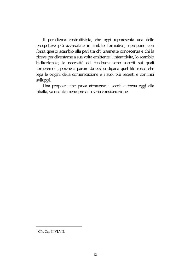Anteprima della tesi: L' integrazione delle tecnologie informatiche nella didattica, un percorso fra testi, ipertesti, reti e sistemi intelligenti, Pagina 12