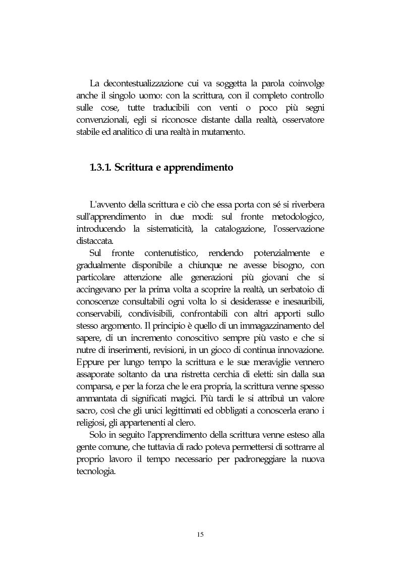 Anteprima della tesi: L' integrazione delle tecnologie informatiche nella didattica, un percorso fra testi, ipertesti, reti e sistemi intelligenti, Pagina 15
