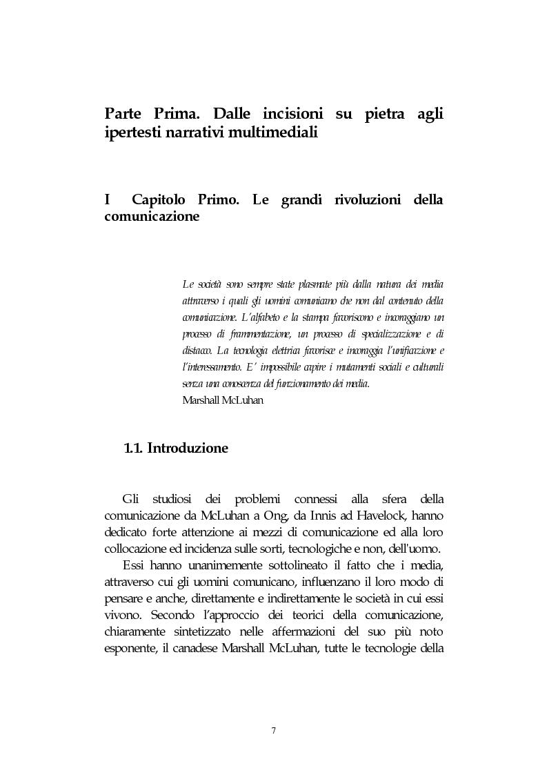 Anteprima della tesi: L' integrazione delle tecnologie informatiche nella didattica, un percorso fra testi, ipertesti, reti e sistemi intelligenti, Pagina 7