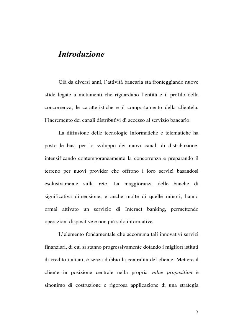 Anteprima della tesi: La banca multicanale e il CRM, Pagina 1