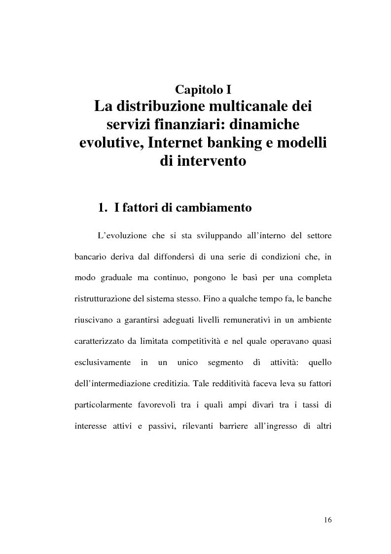 Anteprima della tesi: La banca multicanale e il CRM, Pagina 10