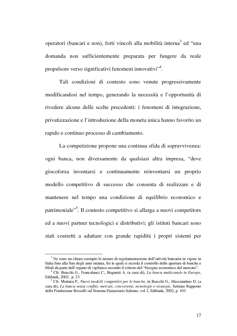 Anteprima della tesi: La banca multicanale e il CRM, Pagina 11