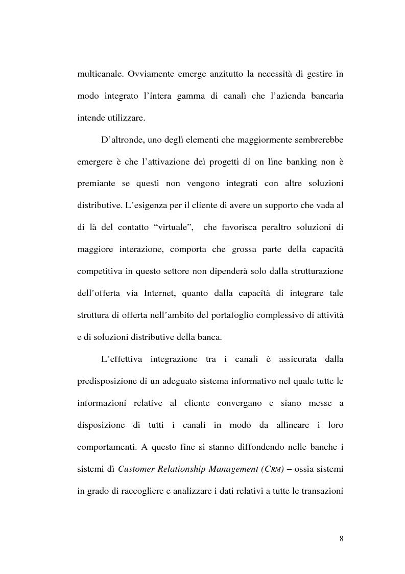 Anteprima della tesi: La banca multicanale e il CRM, Pagina 2