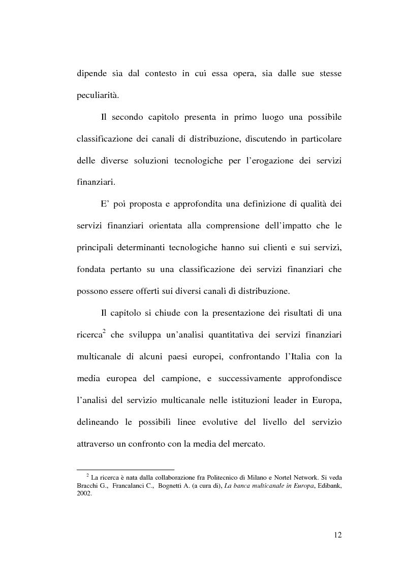 Anteprima della tesi: La banca multicanale e il CRM, Pagina 6