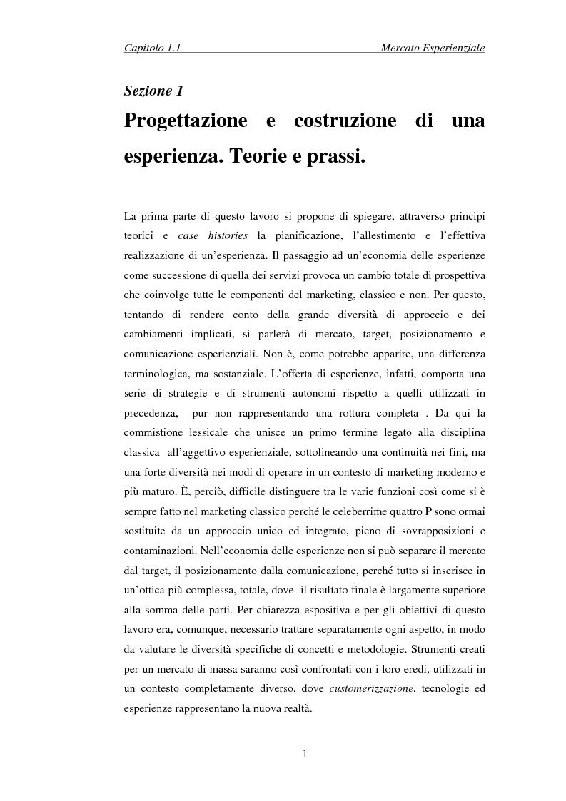 Anteprima della tesi: Il marketing esperienziale come risorsa strategica di gestione della marca. Il caso H3G, Pagina 4