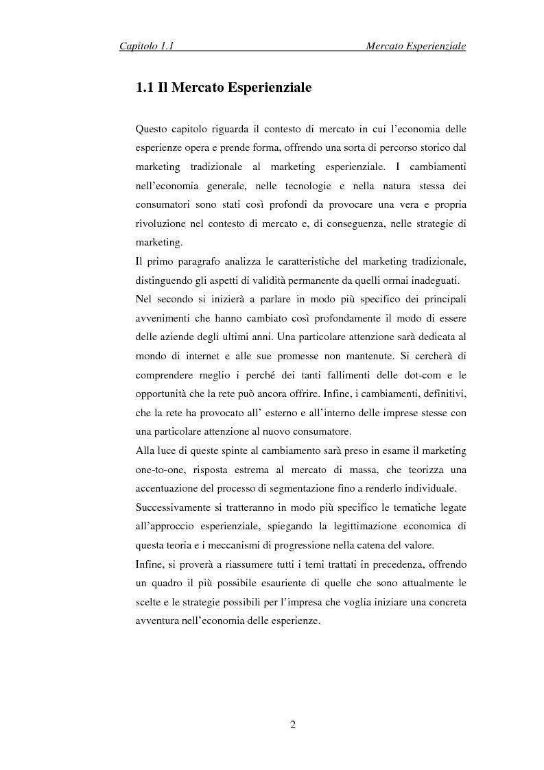 Anteprima della tesi: Il marketing esperienziale come risorsa strategica di gestione della marca. Il caso H3G, Pagina 5
