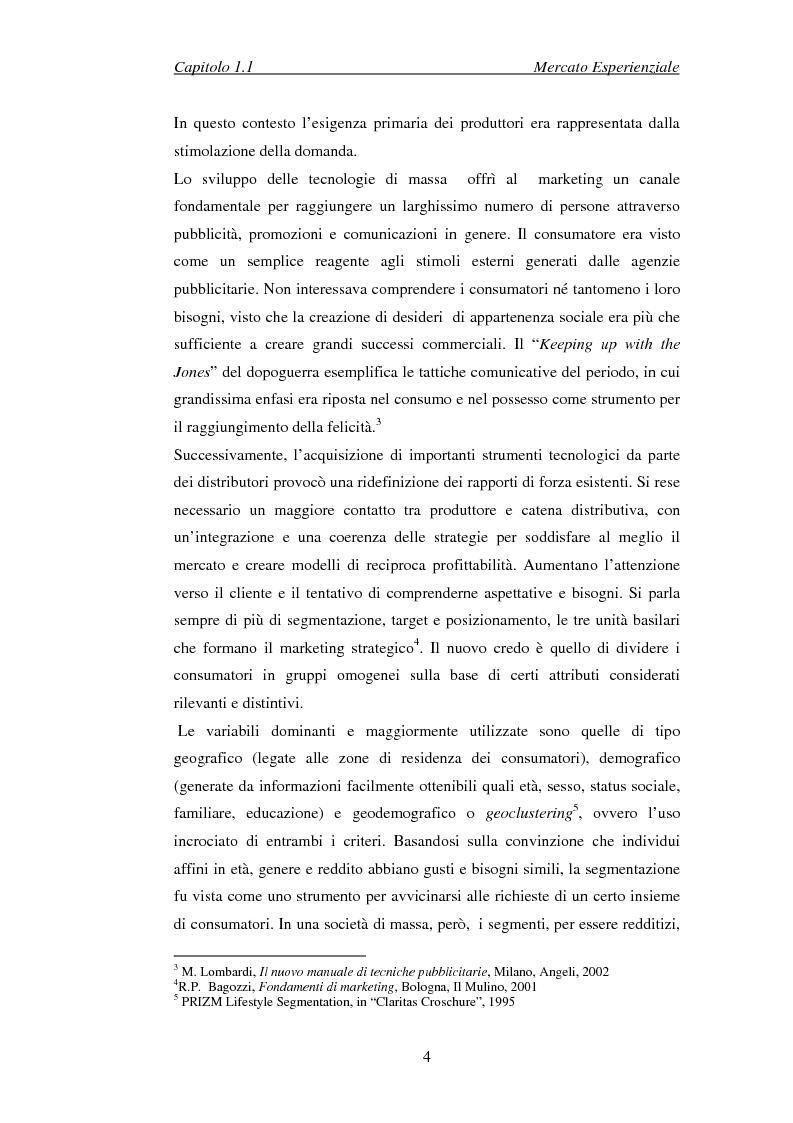Anteprima della tesi: Il marketing esperienziale come risorsa strategica di gestione della marca. Il caso H3G, Pagina 7