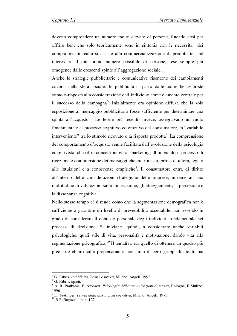Anteprima della tesi: Il marketing esperienziale come risorsa strategica di gestione della marca. Il caso H3G, Pagina 8