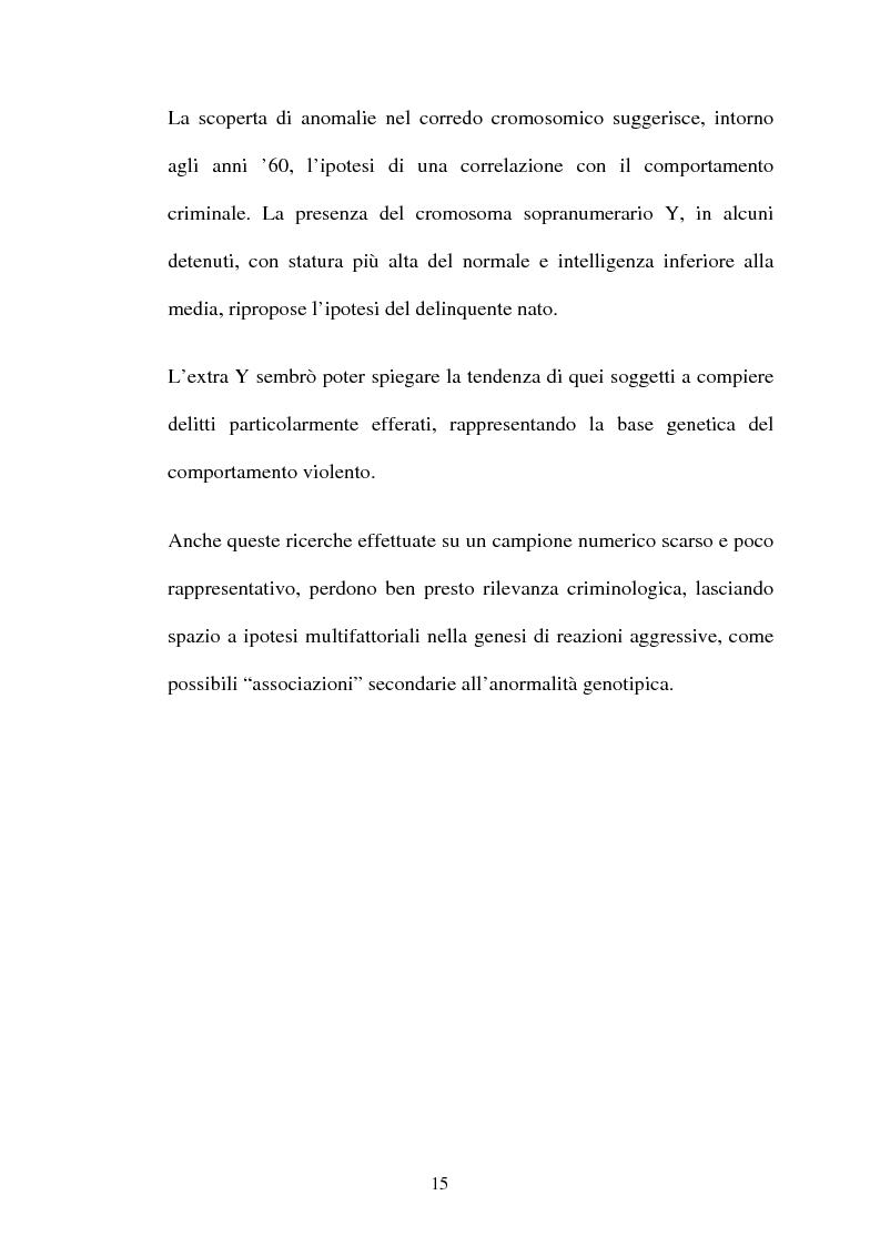 Anteprima della tesi: ''L'indole particolarmente malvagia'' del reo, Pagina 10