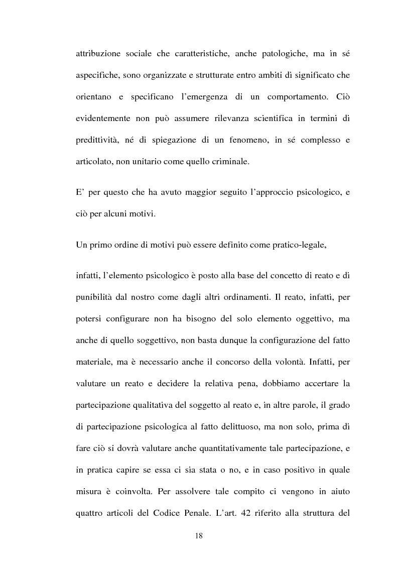 Anteprima della tesi: ''L'indole particolarmente malvagia'' del reo, Pagina 13