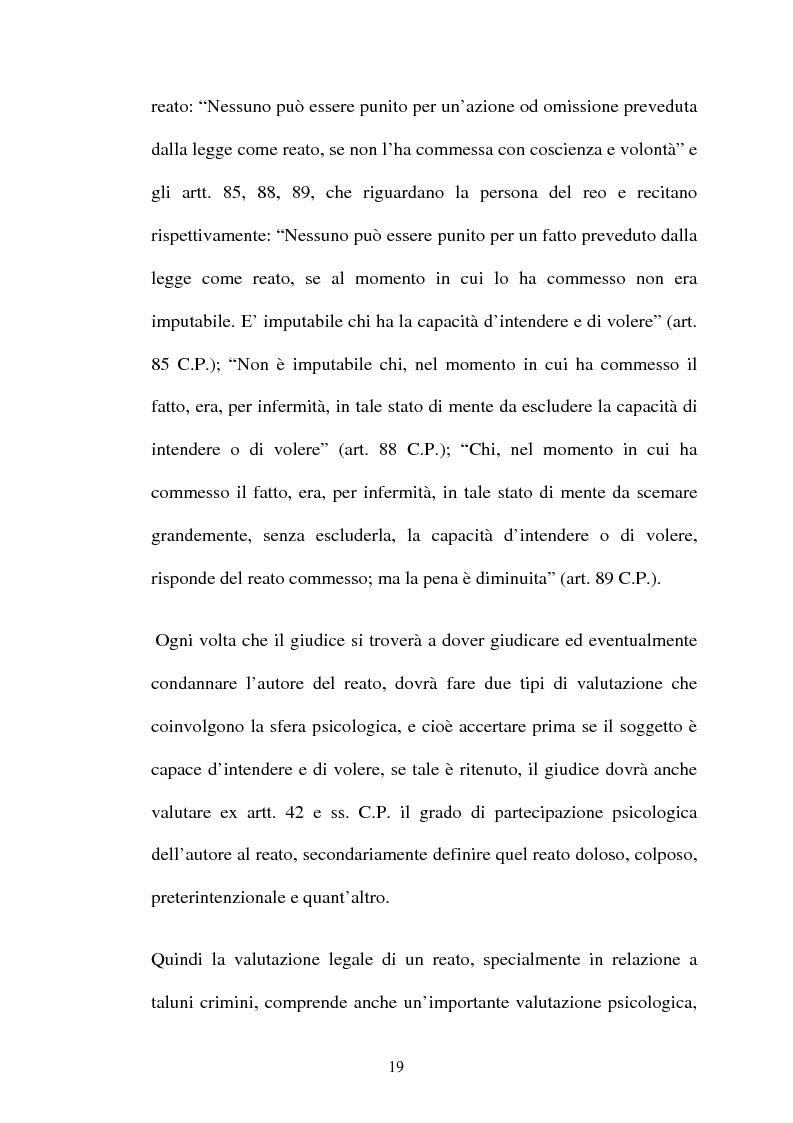 Anteprima della tesi: ''L'indole particolarmente malvagia'' del reo, Pagina 14