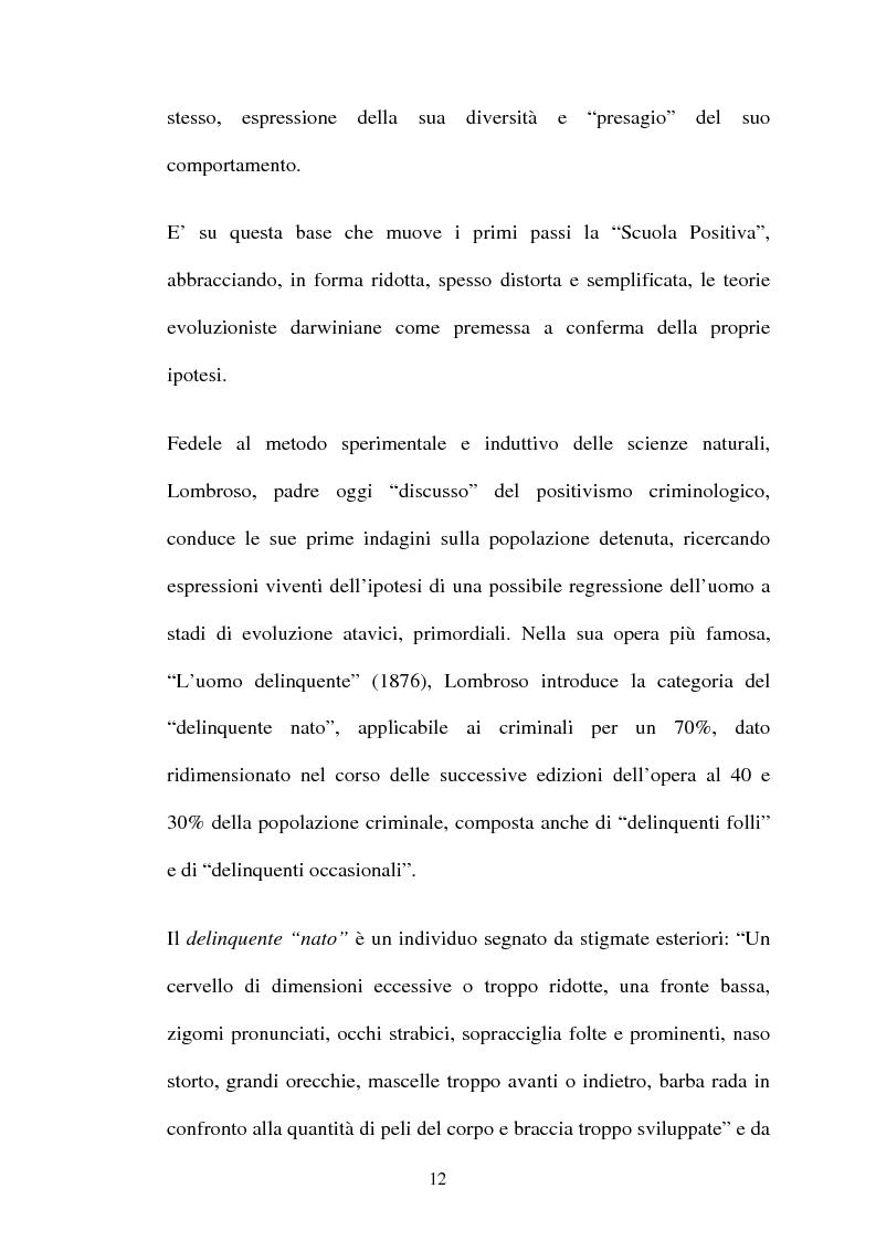 Anteprima della tesi: ''L'indole particolarmente malvagia'' del reo, Pagina 7