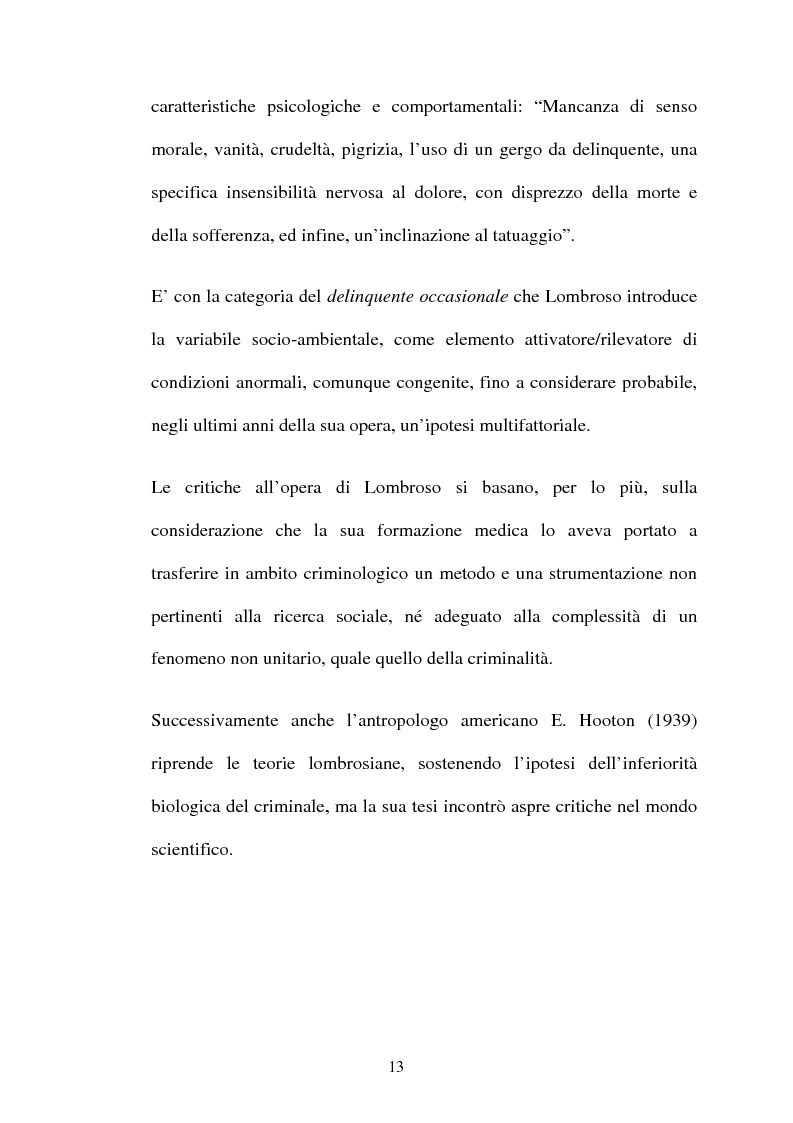 Anteprima della tesi: ''L'indole particolarmente malvagia'' del reo, Pagina 8