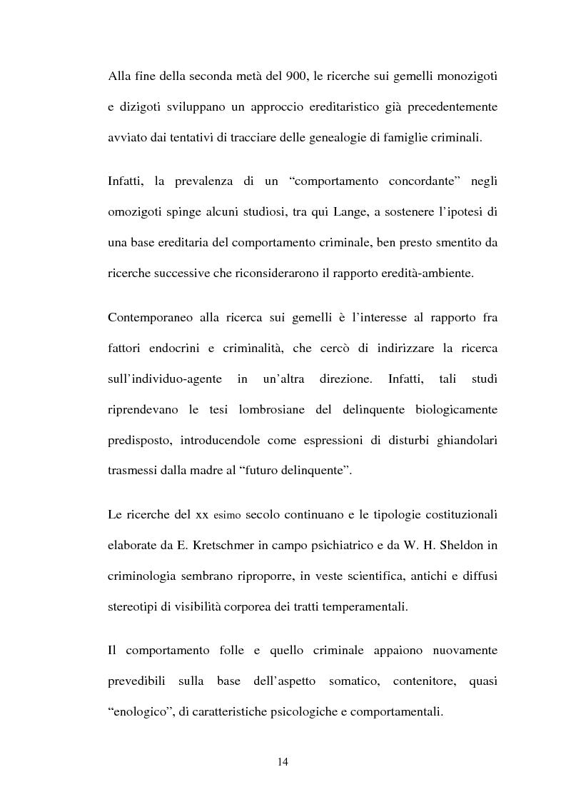 Anteprima della tesi: ''L'indole particolarmente malvagia'' del reo, Pagina 9