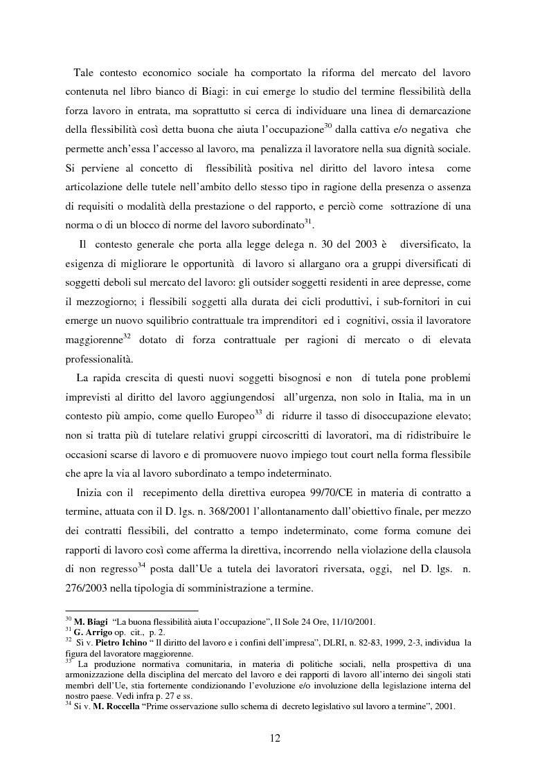 Anteprima della tesi: La somministrazione di lavoro, Pagina 12