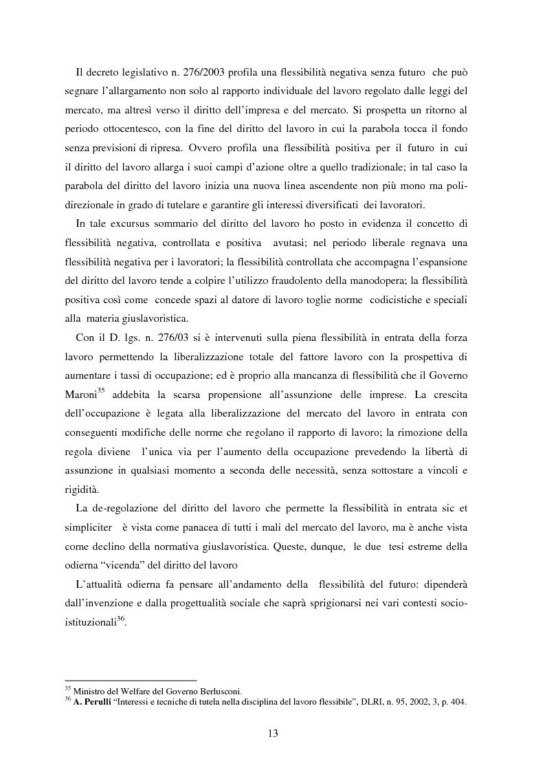 Anteprima della tesi: La somministrazione di lavoro, Pagina 13