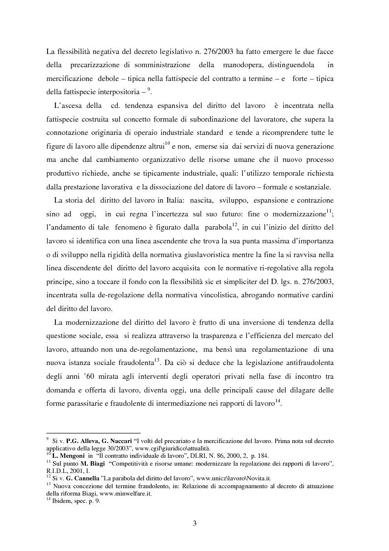 Anteprima della tesi: La somministrazione di lavoro, Pagina 3