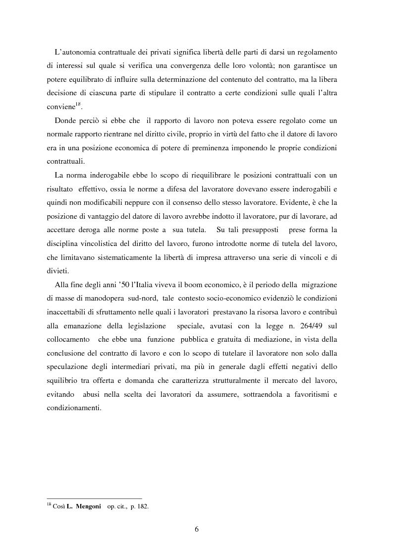 Anteprima della tesi: La somministrazione di lavoro, Pagina 6