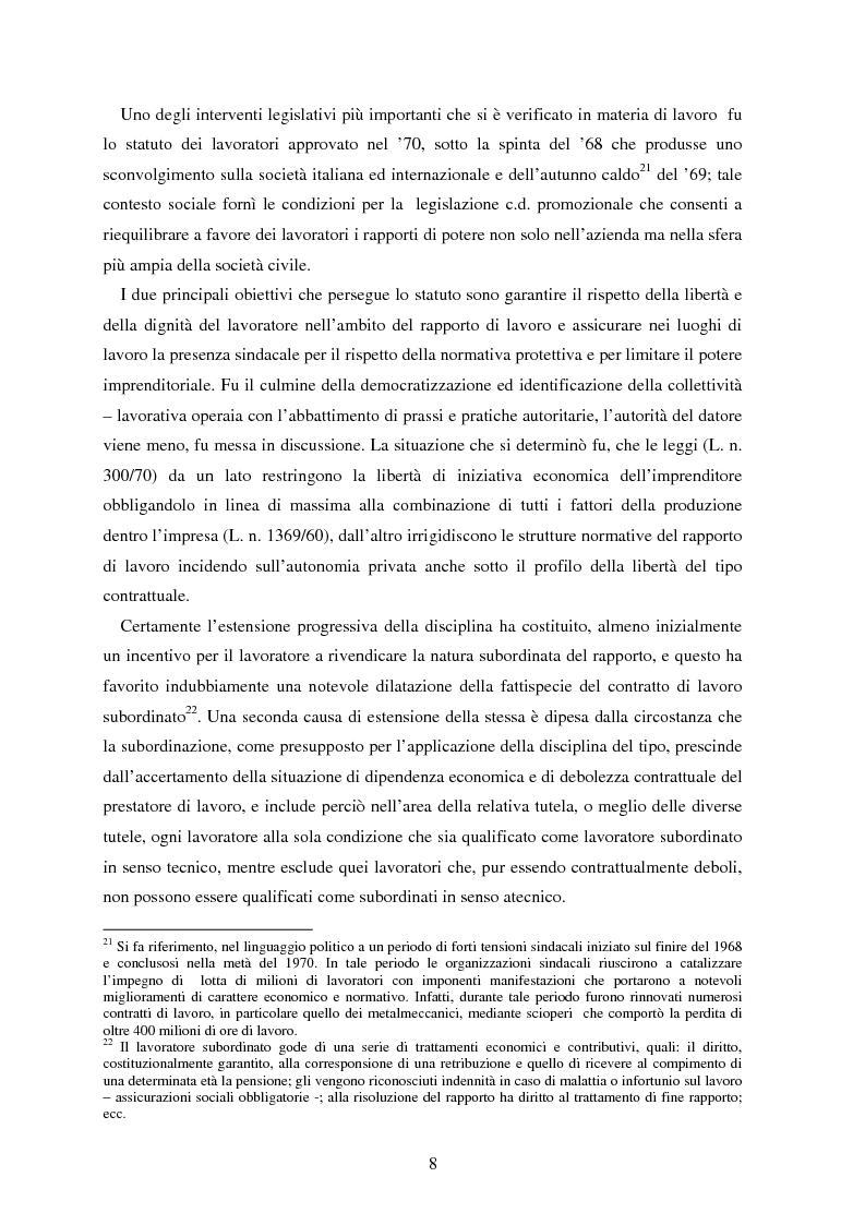 Anteprima della tesi: La somministrazione di lavoro, Pagina 8