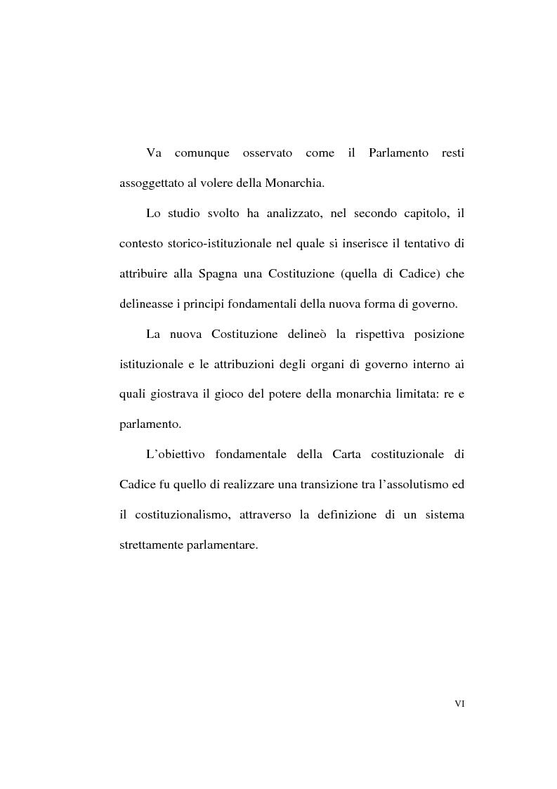 Anteprima della tesi: Il Parlamentarismo spagnolo dalla Costituzione di Cadice al Post-franchismo, Pagina 3