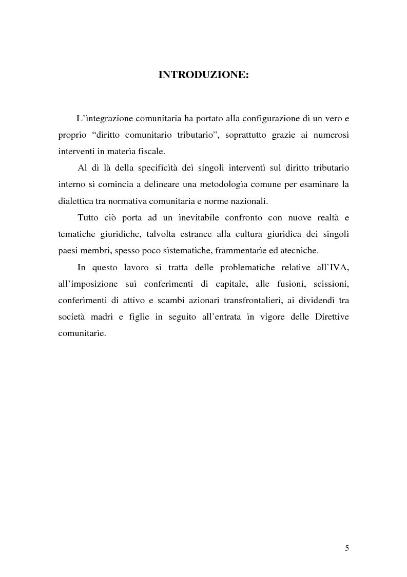 Anteprima della tesi: Le Direttive CE in materia tributaria, Pagina 1