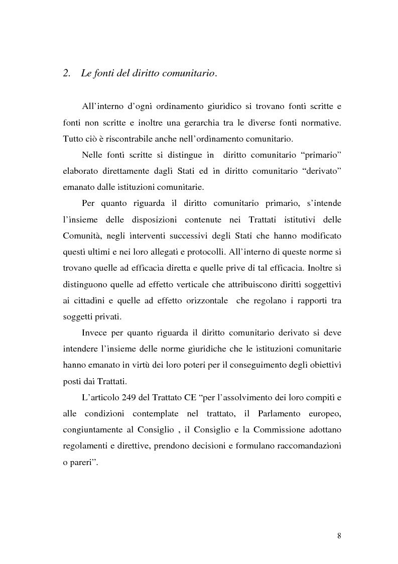 Anteprima della tesi: Le Direttive CE in materia tributaria, Pagina 4