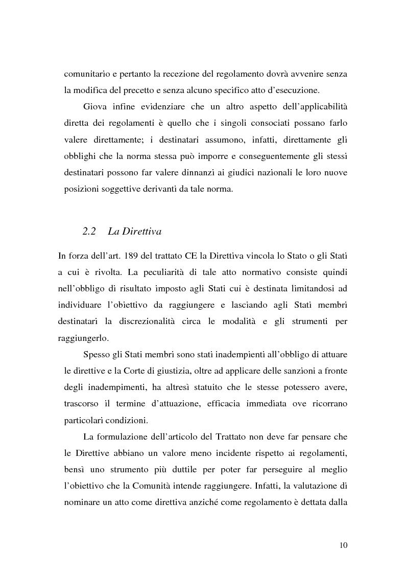 Anteprima della tesi: Le Direttive CE in materia tributaria, Pagina 6