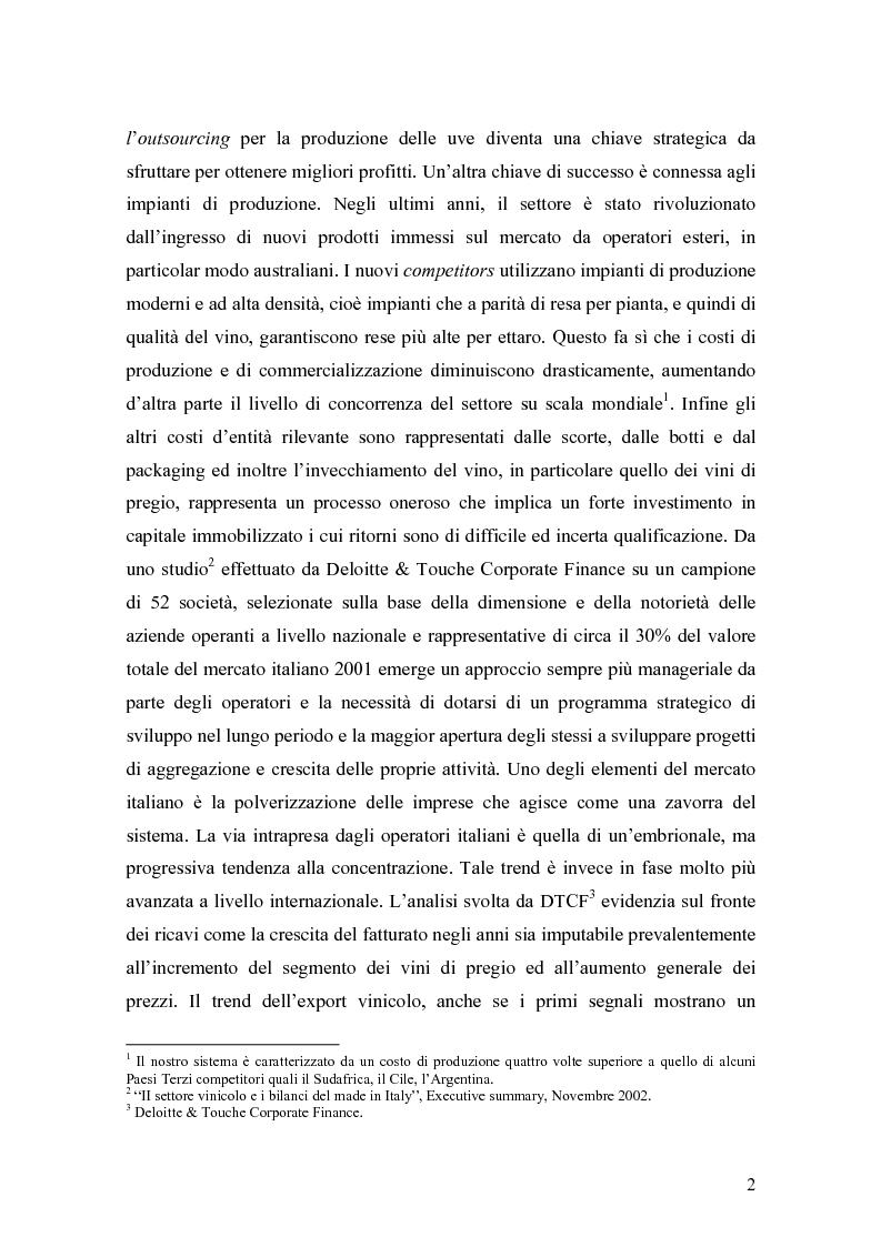 Anteprima della tesi: Gli effetti della innovazione finanziaria sul mercato del vino: il caso italiano., Pagina 2