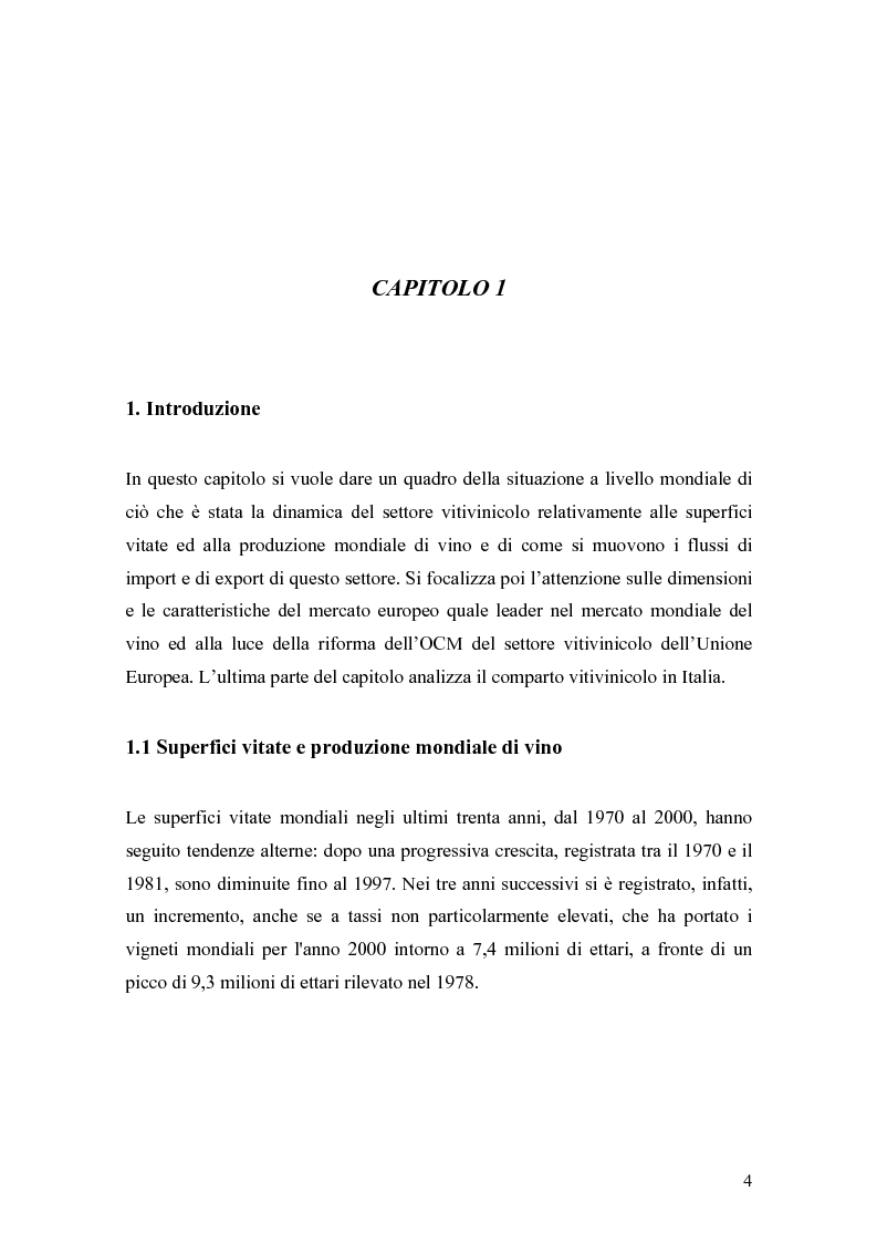 Anteprima della tesi: Gli effetti della innovazione finanziaria sul mercato del vino: il caso italiano., Pagina 4