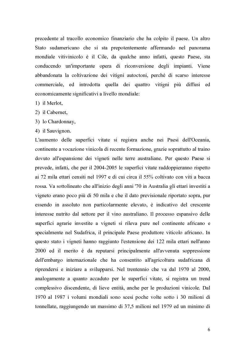 Anteprima della tesi: Gli effetti della innovazione finanziaria sul mercato del vino: il caso italiano., Pagina 6