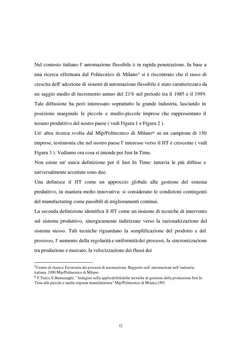 Anteprima della tesi: I problemi di flessibilità ed automazione nell'impresa: un esame relativo all'industria motociclistica italiana, Pagina 13