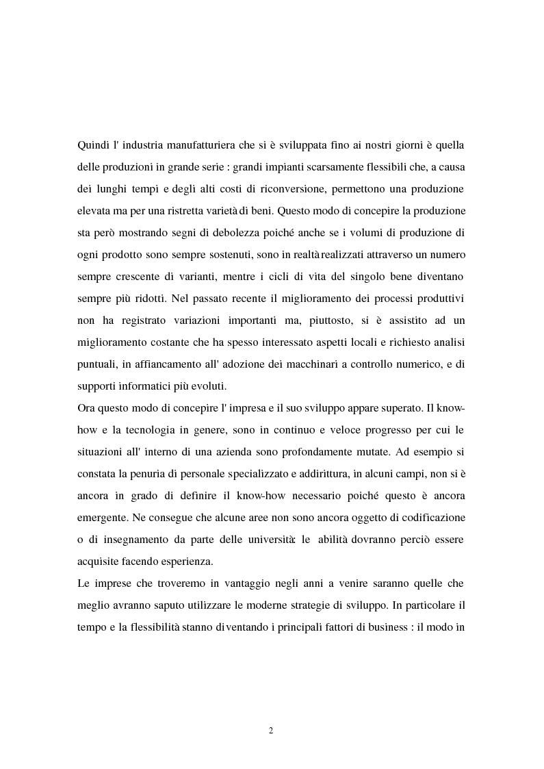 Anteprima della tesi: I problemi di flessibilità ed automazione nell'impresa: un esame relativo all'industria motociclistica italiana, Pagina 3