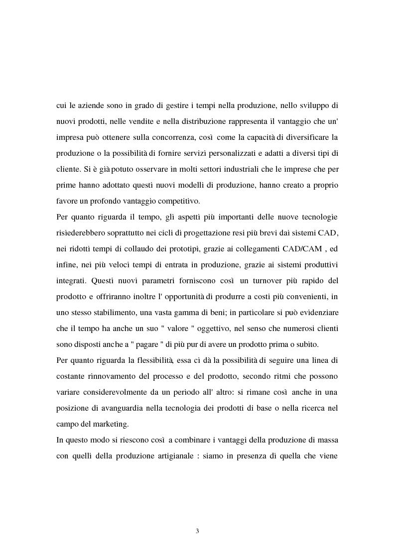 Anteprima della tesi: I problemi di flessibilità ed automazione nell'impresa: un esame relativo all'industria motociclistica italiana, Pagina 4
