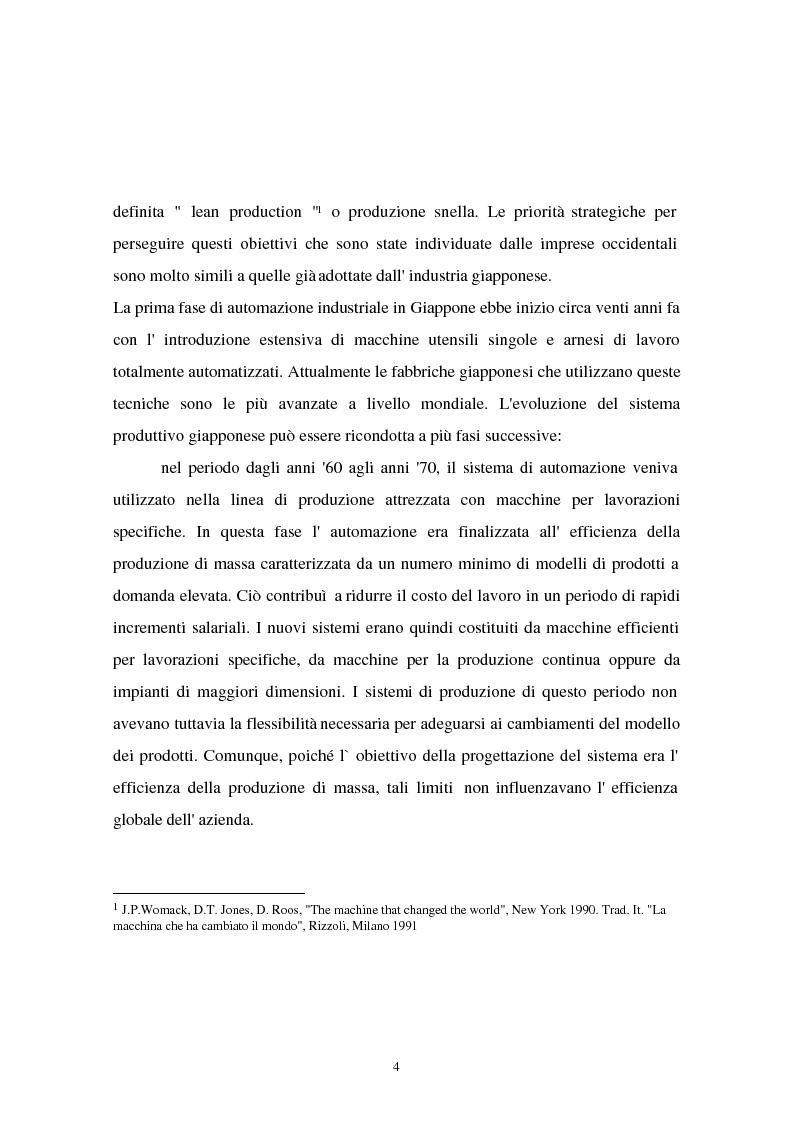Anteprima della tesi: I problemi di flessibilità ed automazione nell'impresa: un esame relativo all'industria motociclistica italiana, Pagina 5
