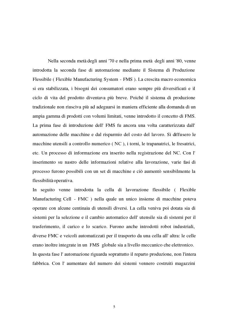 Anteprima della tesi: I problemi di flessibilità ed automazione nell'impresa: un esame relativo all'industria motociclistica italiana, Pagina 6