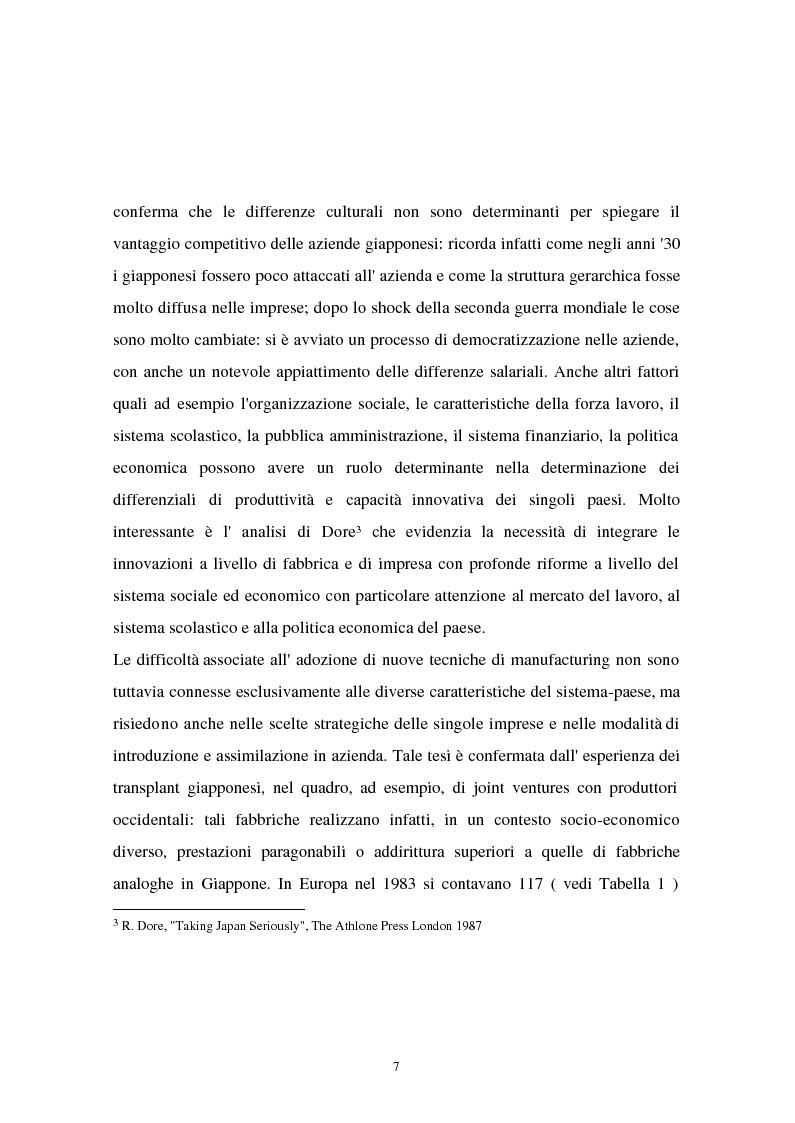 Anteprima della tesi: I problemi di flessibilità ed automazione nell'impresa: un esame relativo all'industria motociclistica italiana, Pagina 8