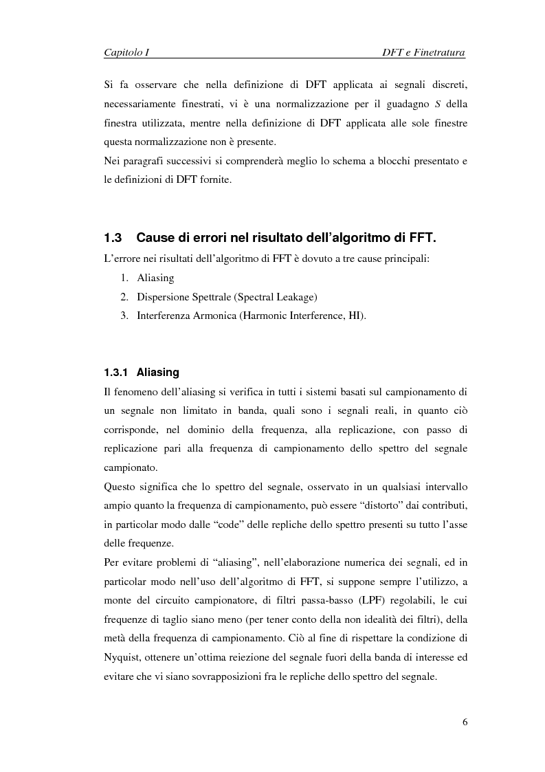 Anteprima della tesi: Stima dei parametri dei segnali nel dominio della frequenza in presenza di interferenza armonica, Pagina 6