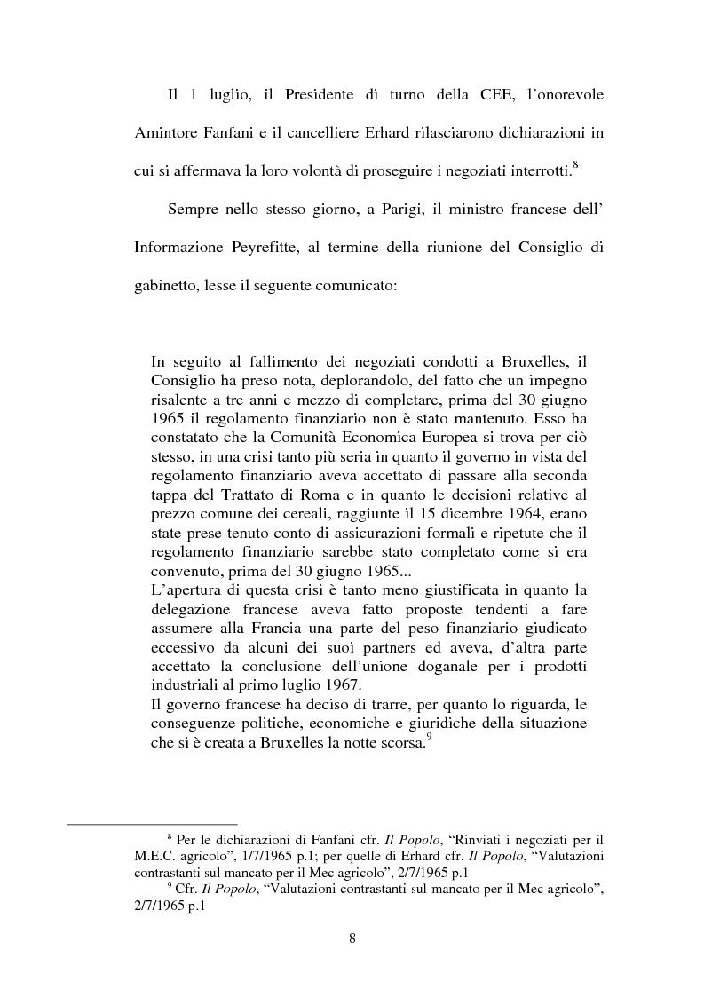 """Anteprima della tesi: La crisi della sedia vuota ne """"Il Popolo"""" e """"L'Avanti"""", Pagina 6"""