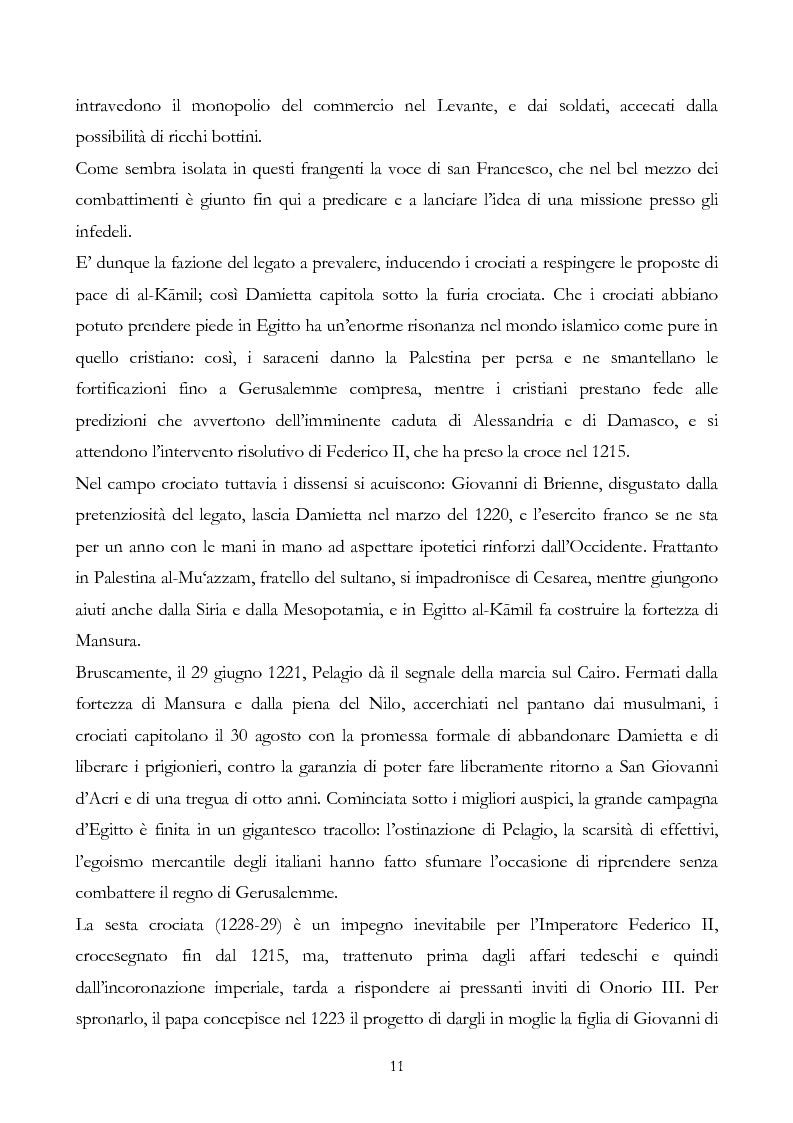 Anteprima della tesi: San Francesco alla corte del sultano. Fallimento del dialogo interreligioso all'alba del XIII secolo?, Pagina 14