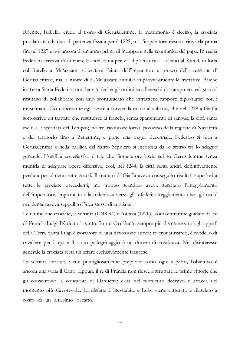Anteprima della tesi: San Francesco alla corte del sultano. Fallimento del dialogo interreligioso all'alba del XIII secolo?, Pagina 15