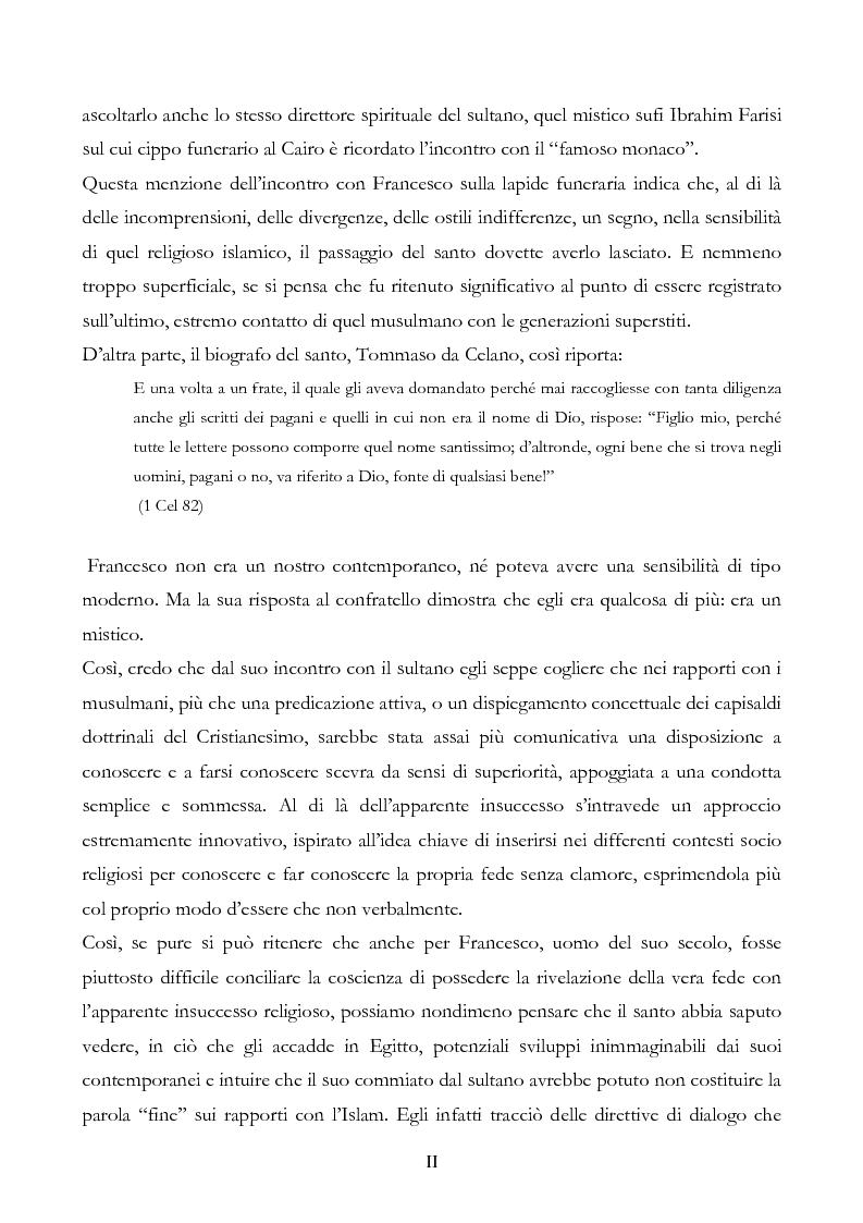 Anteprima della tesi: San Francesco alla corte del sultano. Fallimento del dialogo interreligioso all'alba del XIII secolo?, Pagina 2