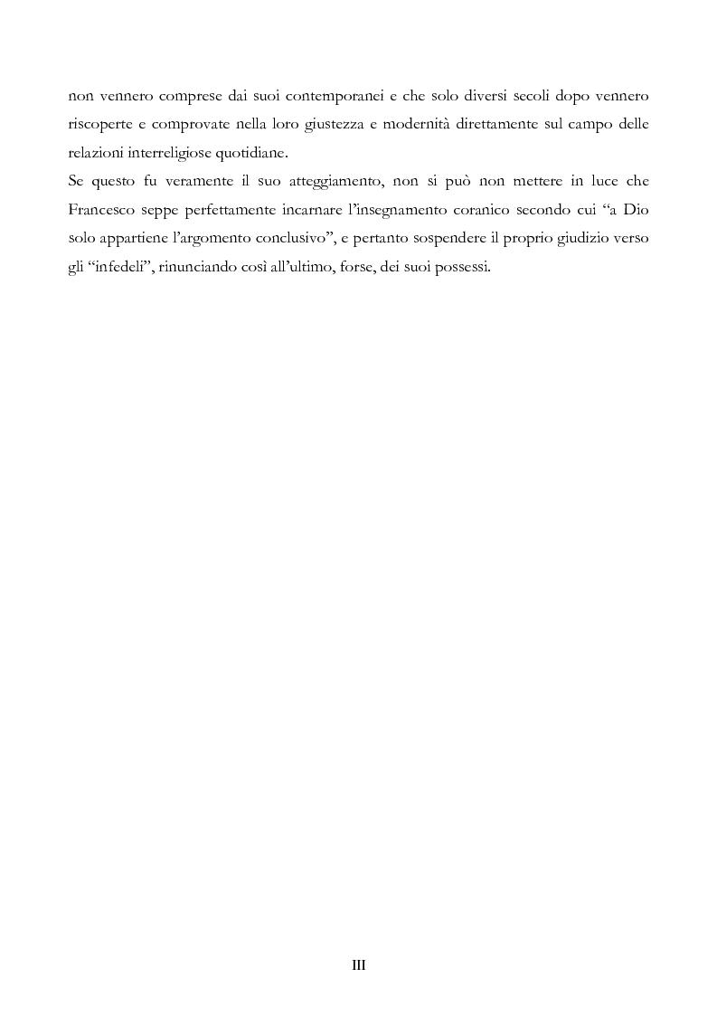 Anteprima della tesi: San Francesco alla corte del sultano. Fallimento del dialogo interreligioso all'alba del XIII secolo?, Pagina 3