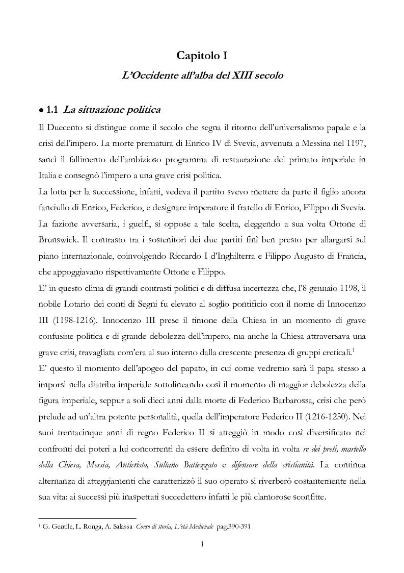 Anteprima della tesi: San Francesco alla corte del sultano. Fallimento del dialogo interreligioso all'alba del XIII secolo?, Pagina 4