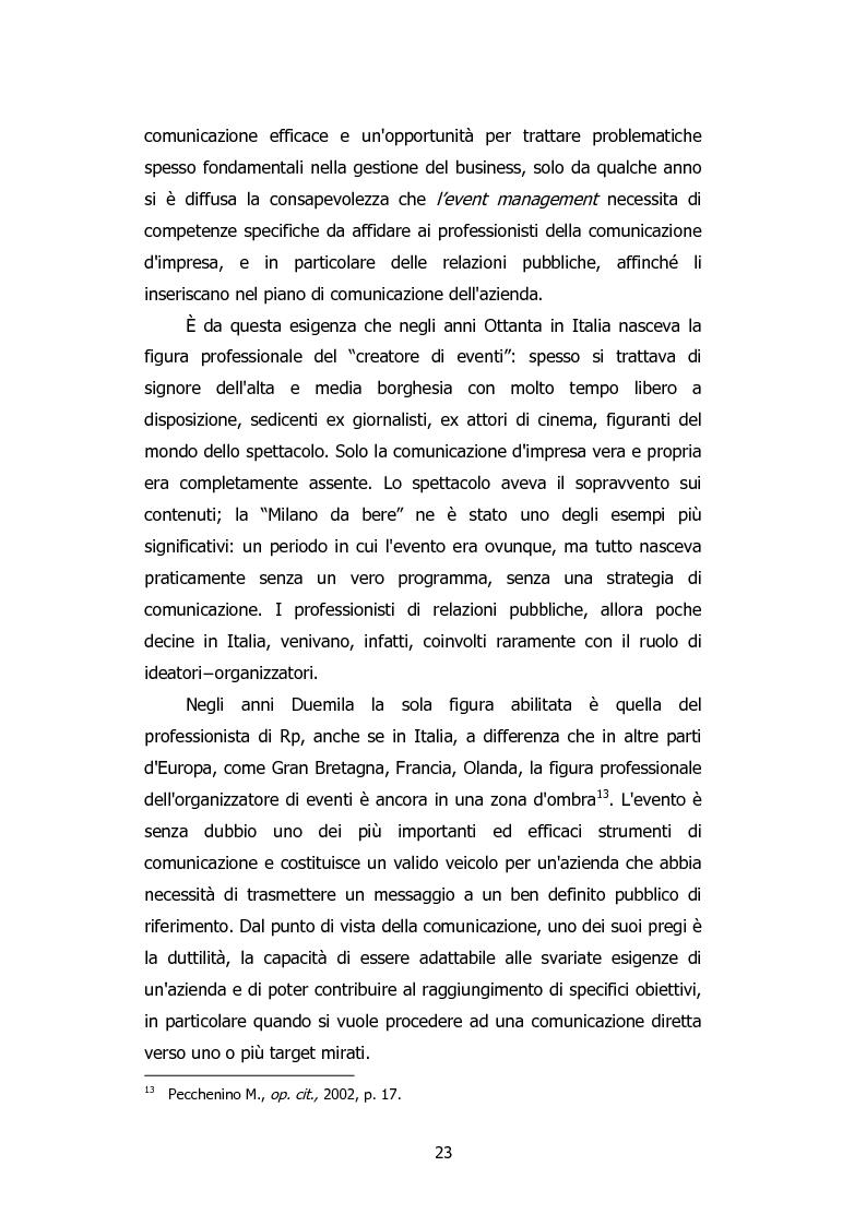Anteprima della tesi: L'organizzazione degli eventi: Triesteantiqua Mostra-mercato dell'antiquariato, Pagina 14