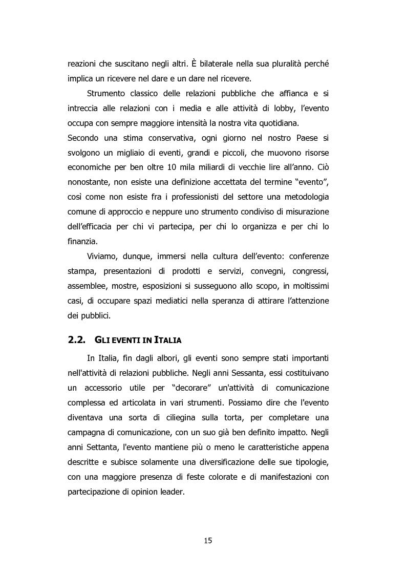 Anteprima della tesi: L'organizzazione degli eventi: Triesteantiqua Mostra-mercato dell'antiquariato, Pagina 6