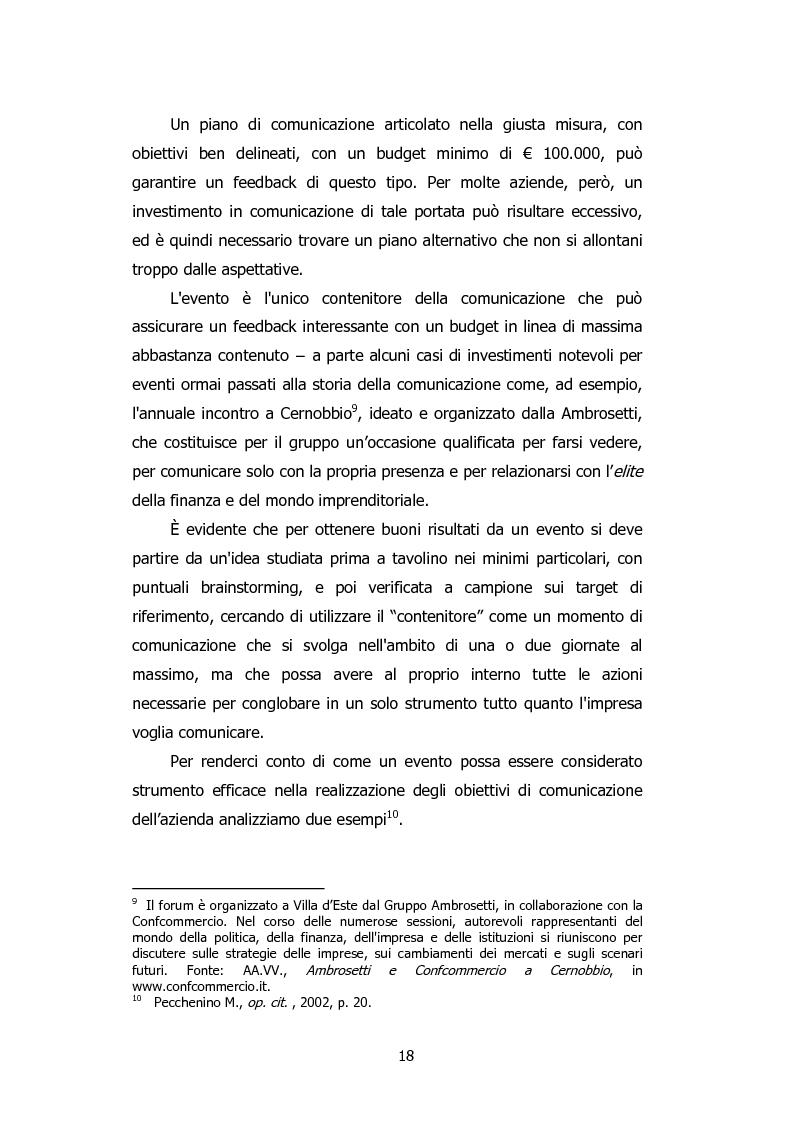 Anteprima della tesi: L'organizzazione degli eventi: Triesteantiqua Mostra-mercato dell'antiquariato, Pagina 9