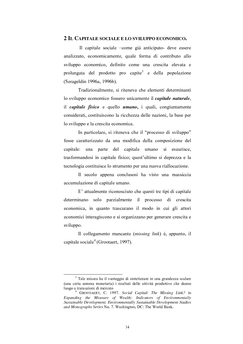 Anteprima della tesi: Capitale Sociale e Crescita Economica, Pagina 10