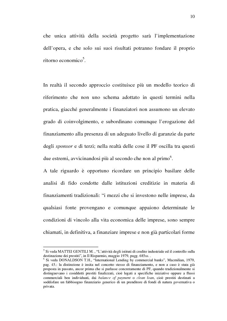 Anteprima della tesi: Il project financing e sue opportunità applicative nel Meridione, Pagina 10